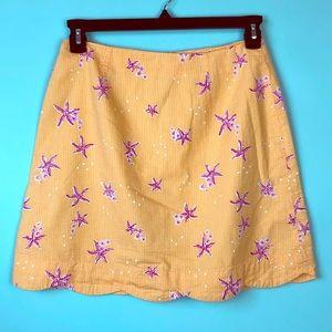 Lilly Pulitzer Vintage Seersucker Starfish Skirt 8